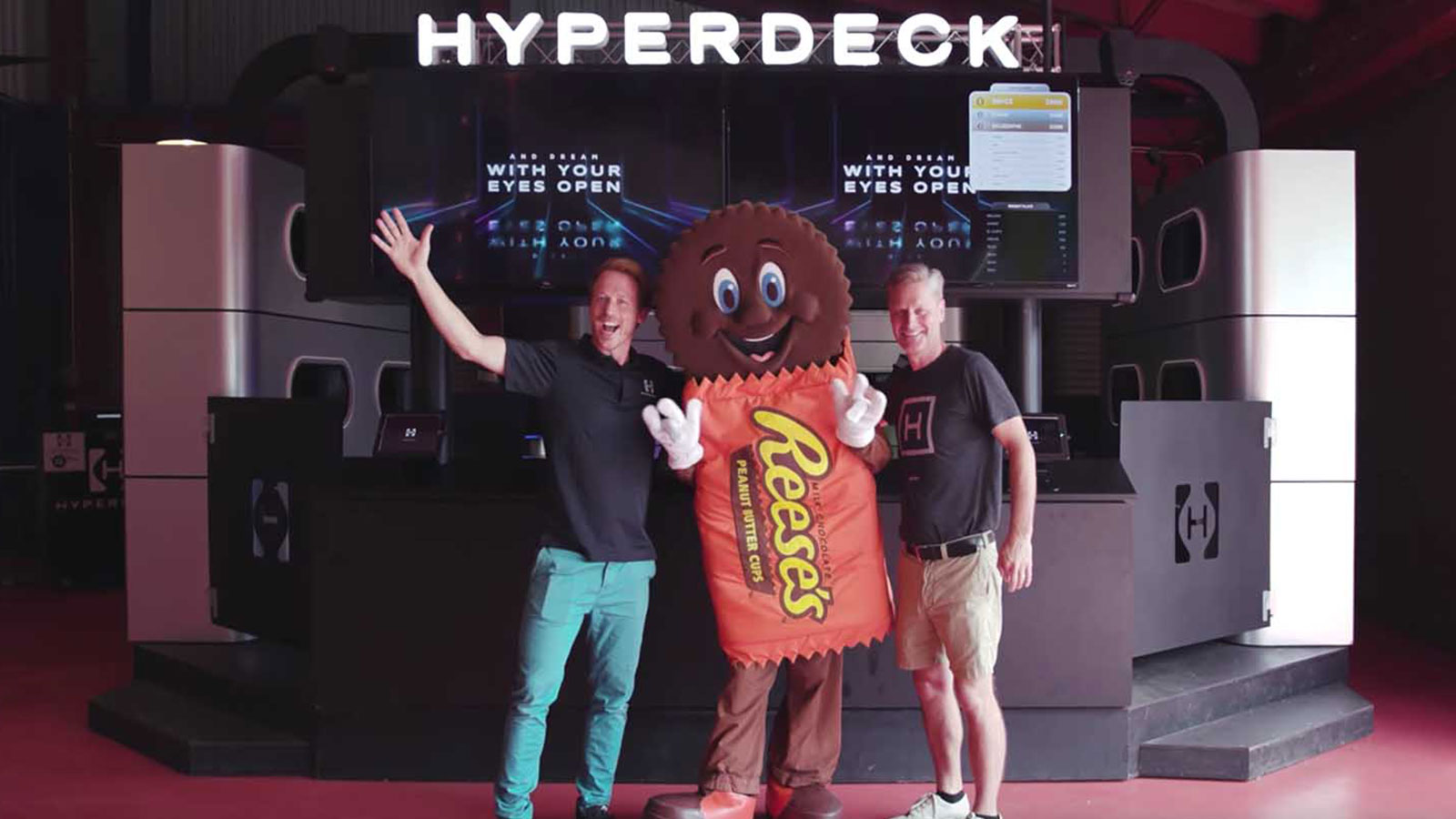 Image showing signage project solution for Hyperdeck event