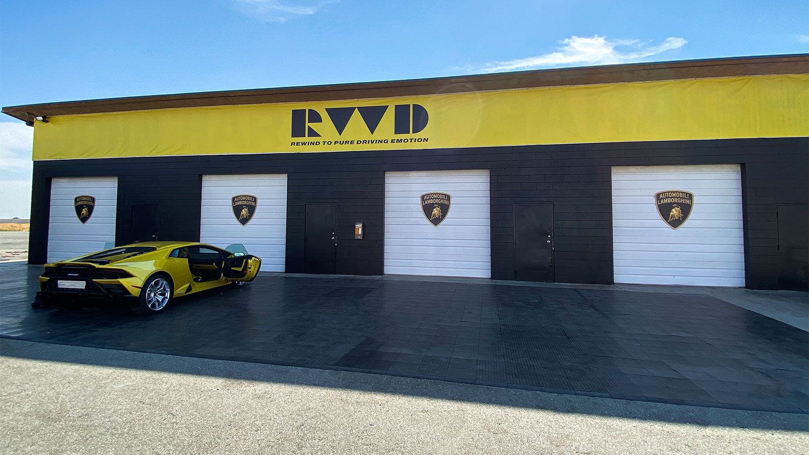 Lamborghini banners and signs
