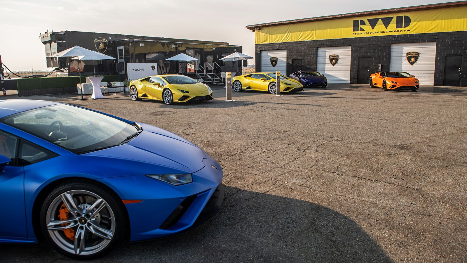 Lamborghini event branding signs