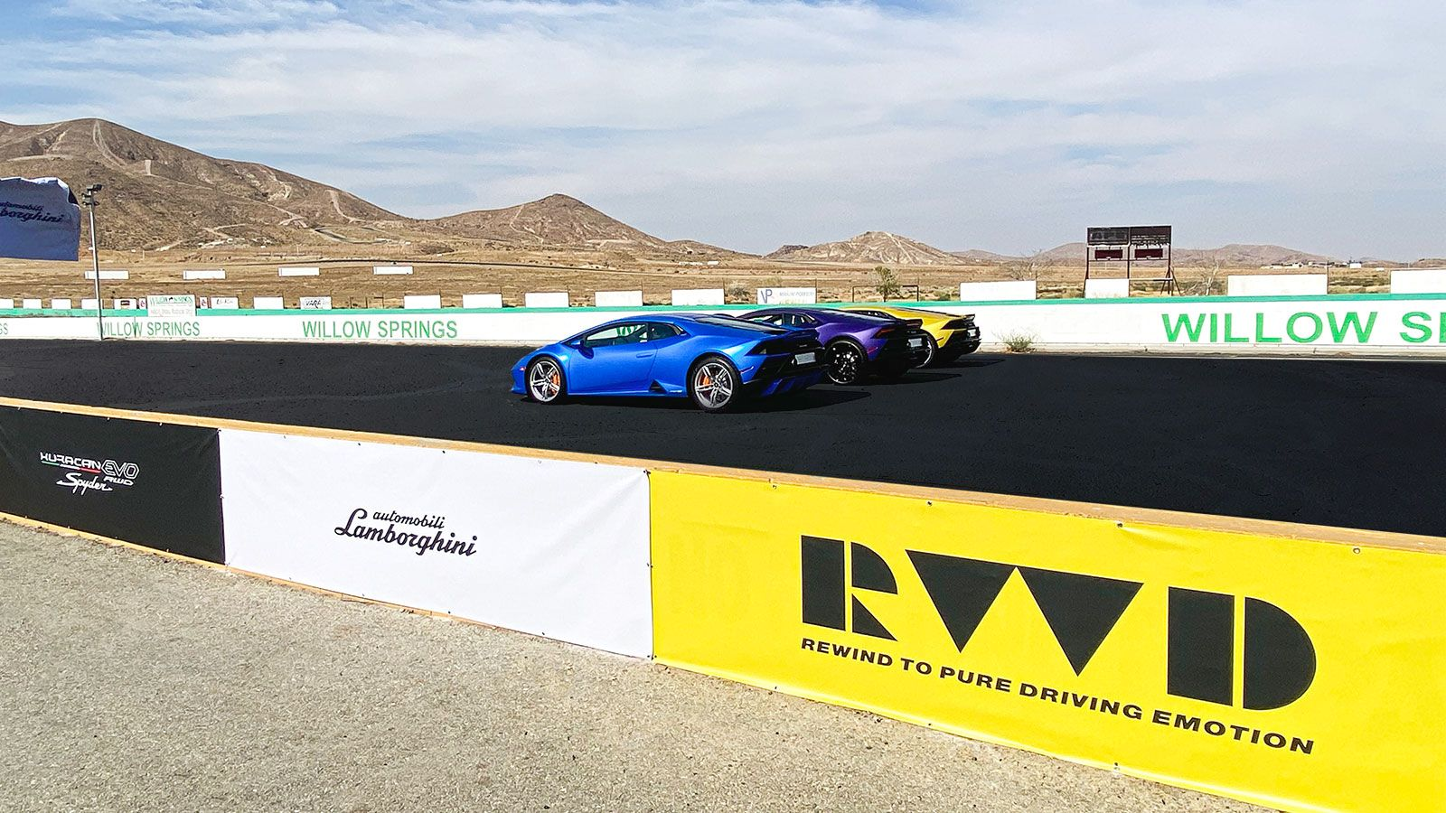Lamborghini race track banners