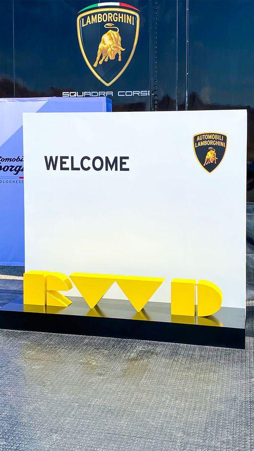 Lamborghini stand signs