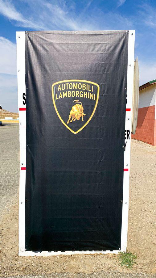 Lamborghini vinyl banner