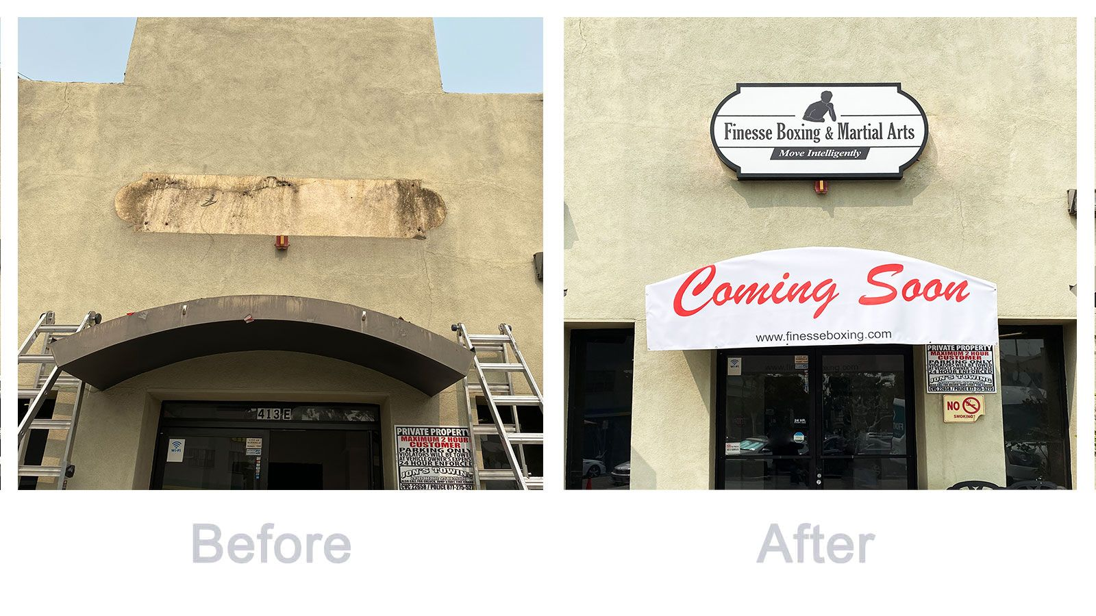 Light box sign replacement