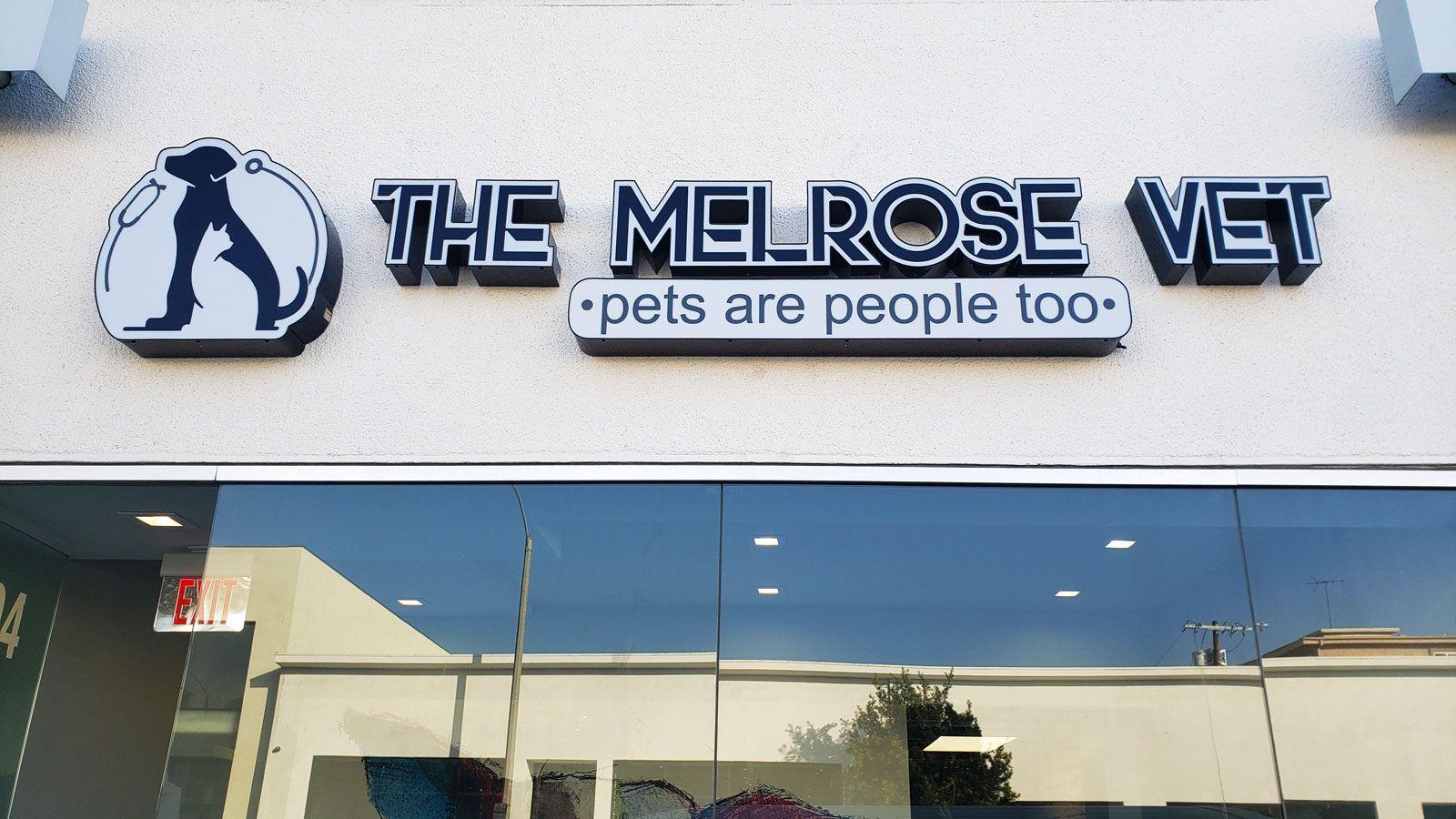 Melrose vet illuminated signs