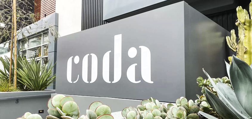 Image showing a minimalistic corporate branding inspiration for 'CODA'