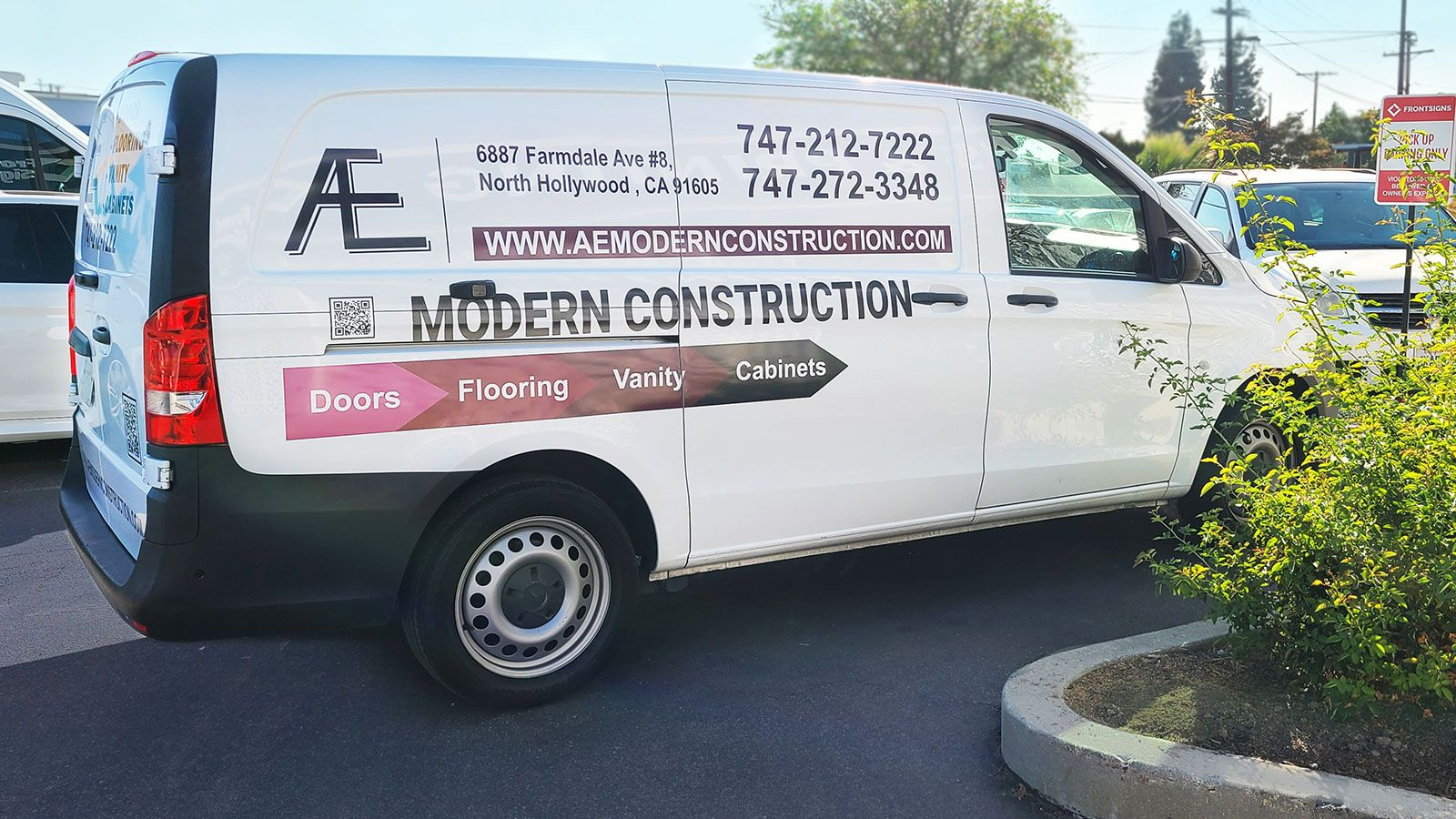 Modern Construction vehicle wrap