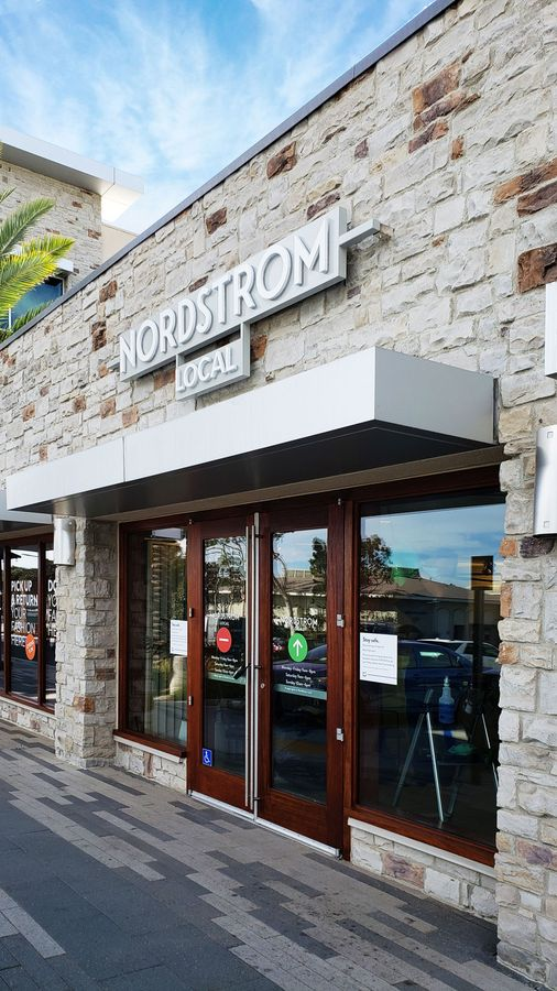 Nordstrom Local 3d sign letters displaying the name of the company made of aluminum and acrylic for storefront branding