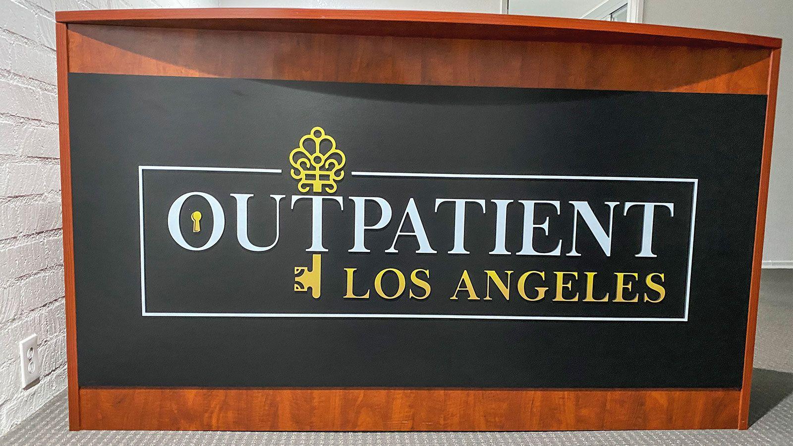 Outpatient pvc sign