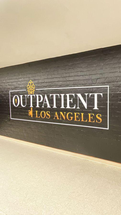 Outpatient vinyl lettering