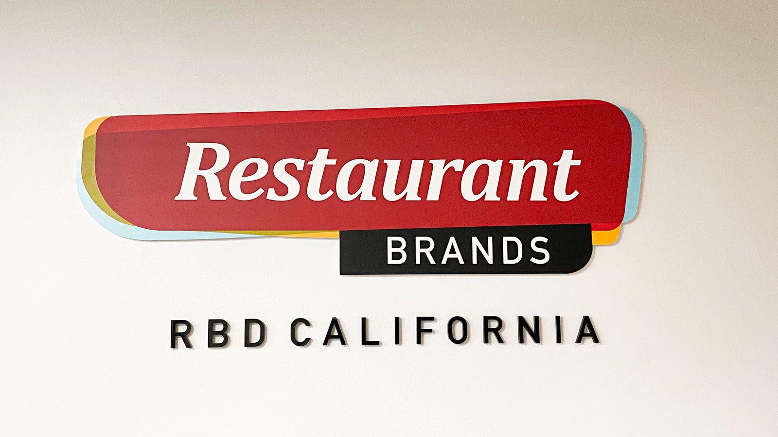 RBD california 3d signs