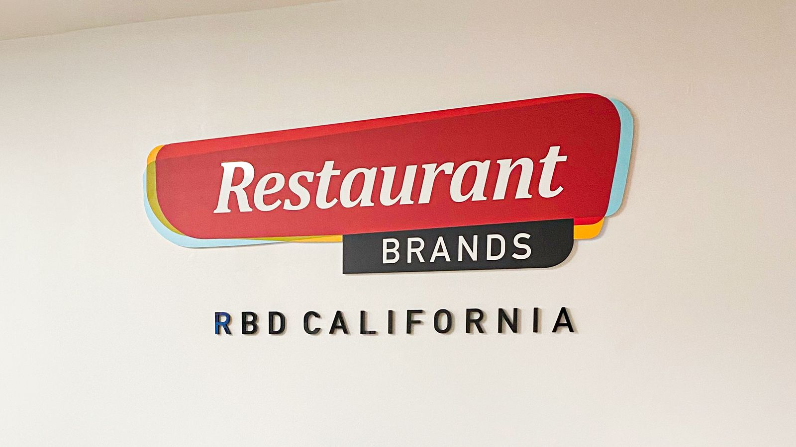 RBD california acrylic signs