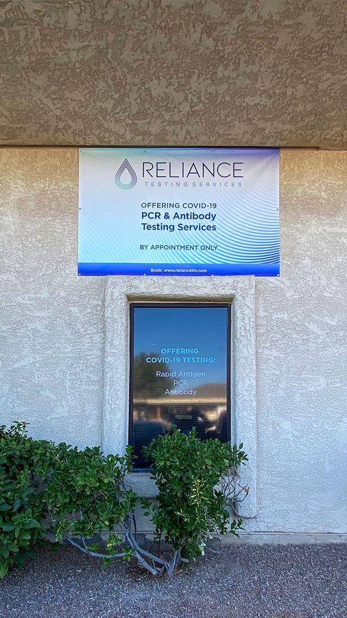 Reliance vinyl banner