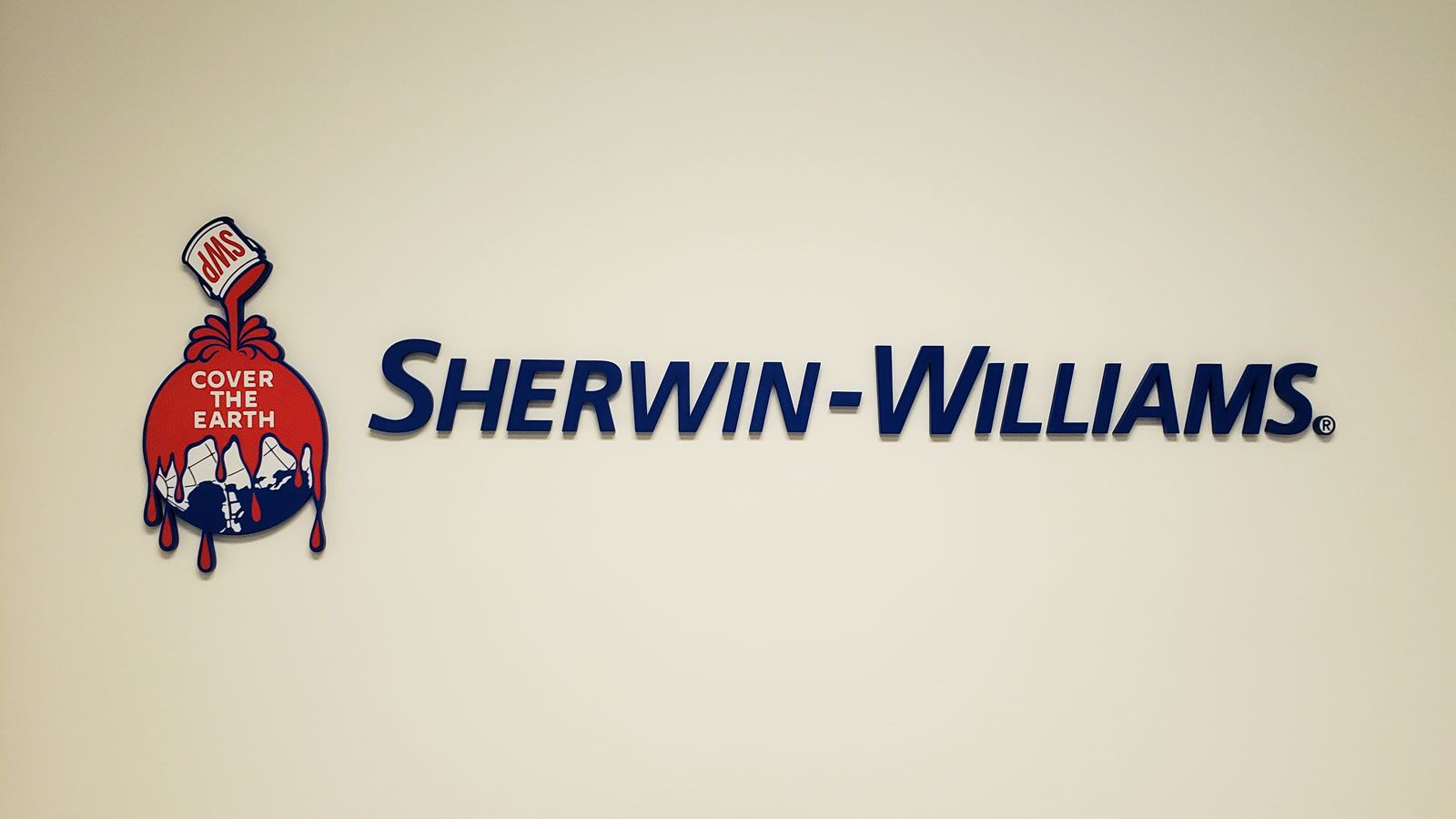 Sherwin-Williams office sign