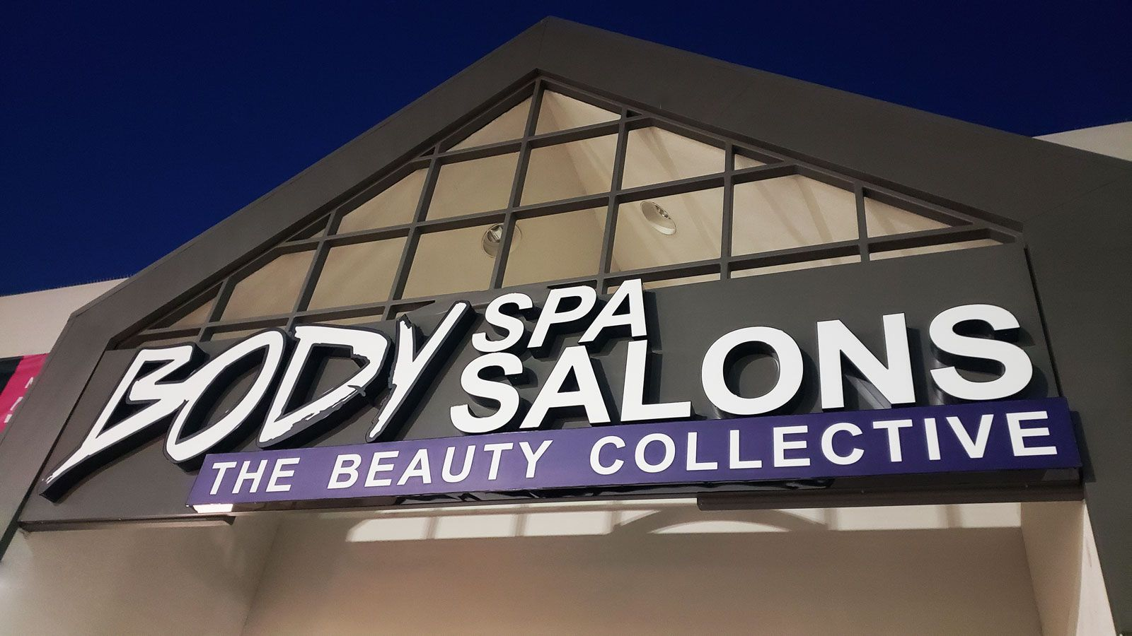 Spa salon illuminated signs