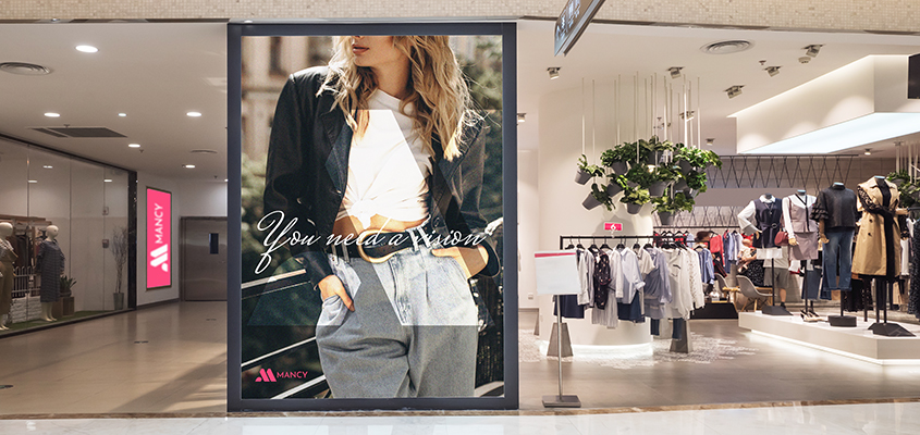 Image showing stylish clothing display as a business branding idea