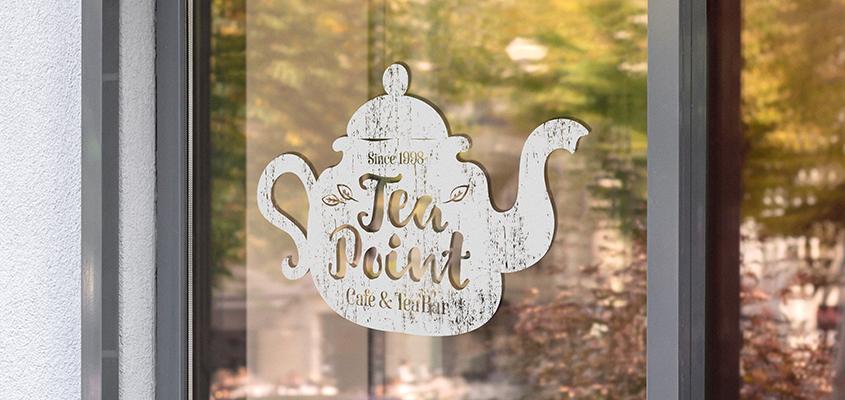 Image showing a tea pot sticker as a corporate branding solution