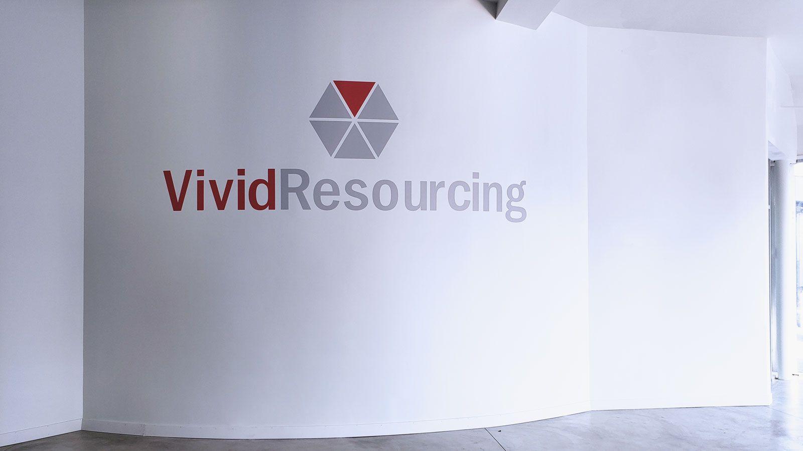 Vivid Resourcing wall decal