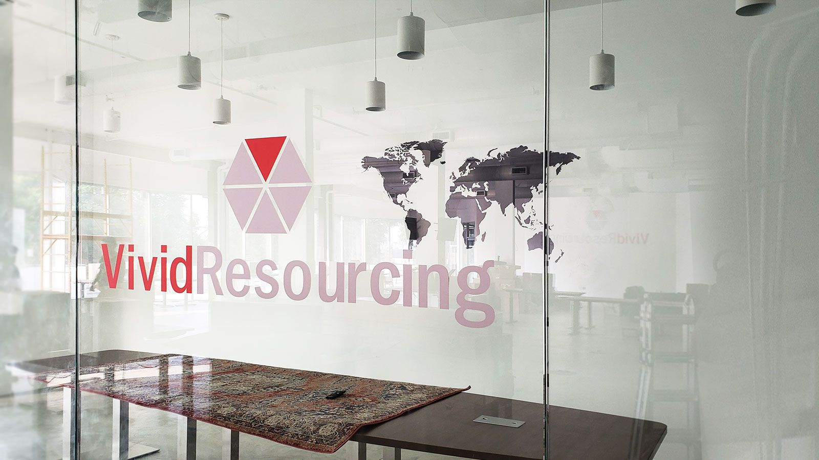 Vivid Resourcing window decal