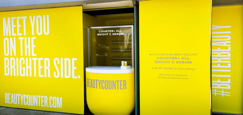 Image showing a yellow signage as a corporate office branding idea