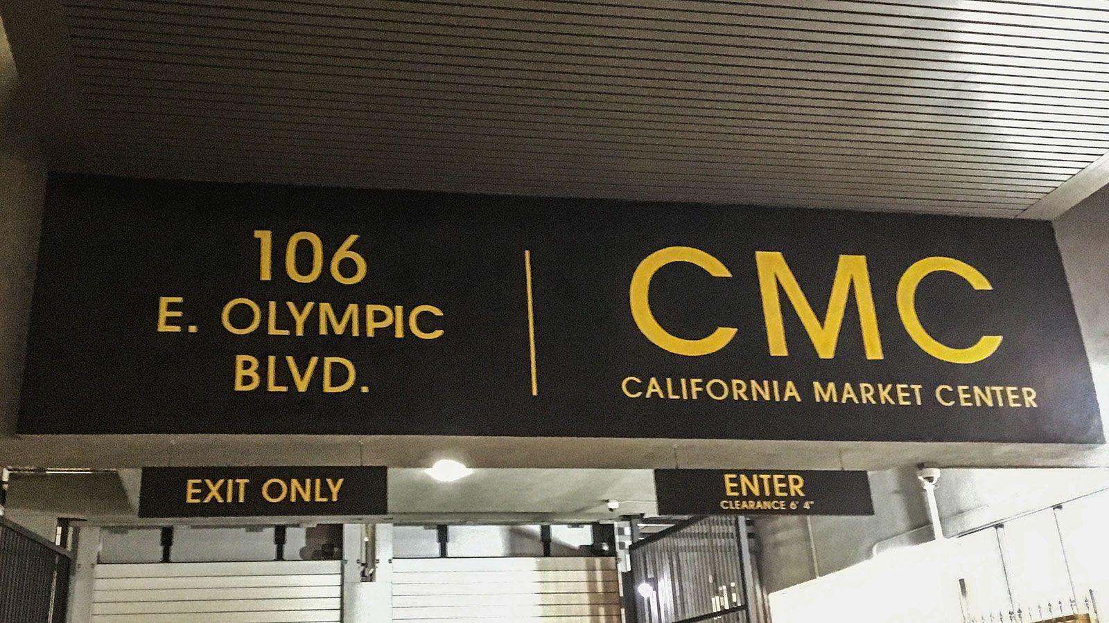 cmc parking aluminum signage