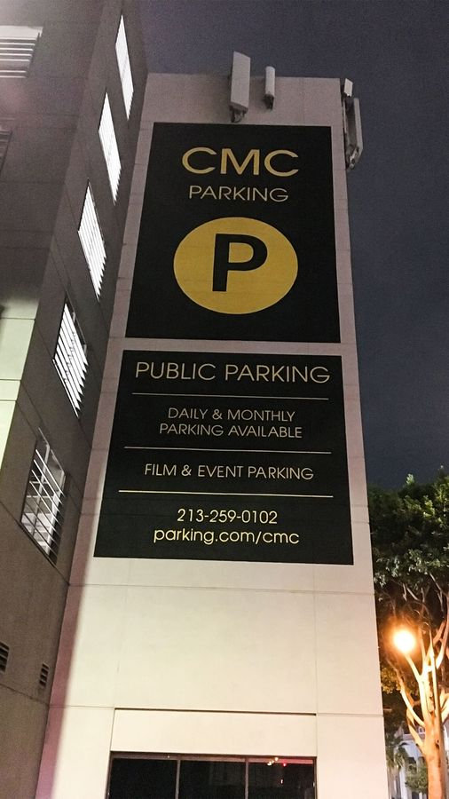 cmc parking painted signage