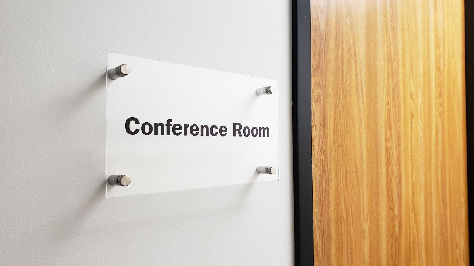 conference room acrylic sign