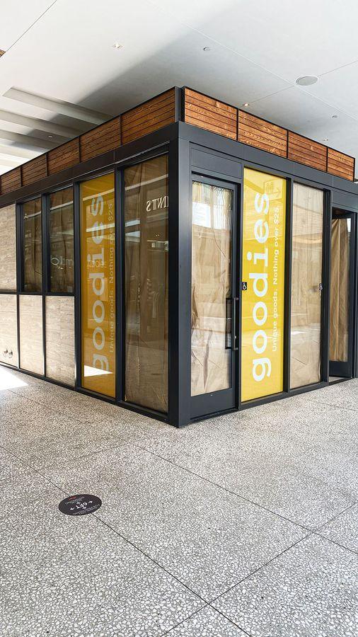 goodies storefront window decals