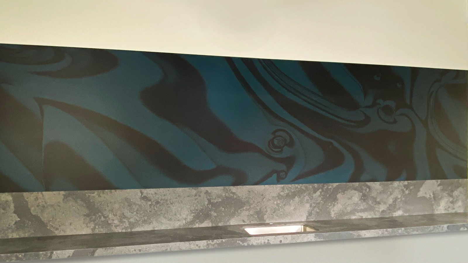 custom interior wall sign mural with unique art graphics made of opaque vinyl for office indoor branding and decorating