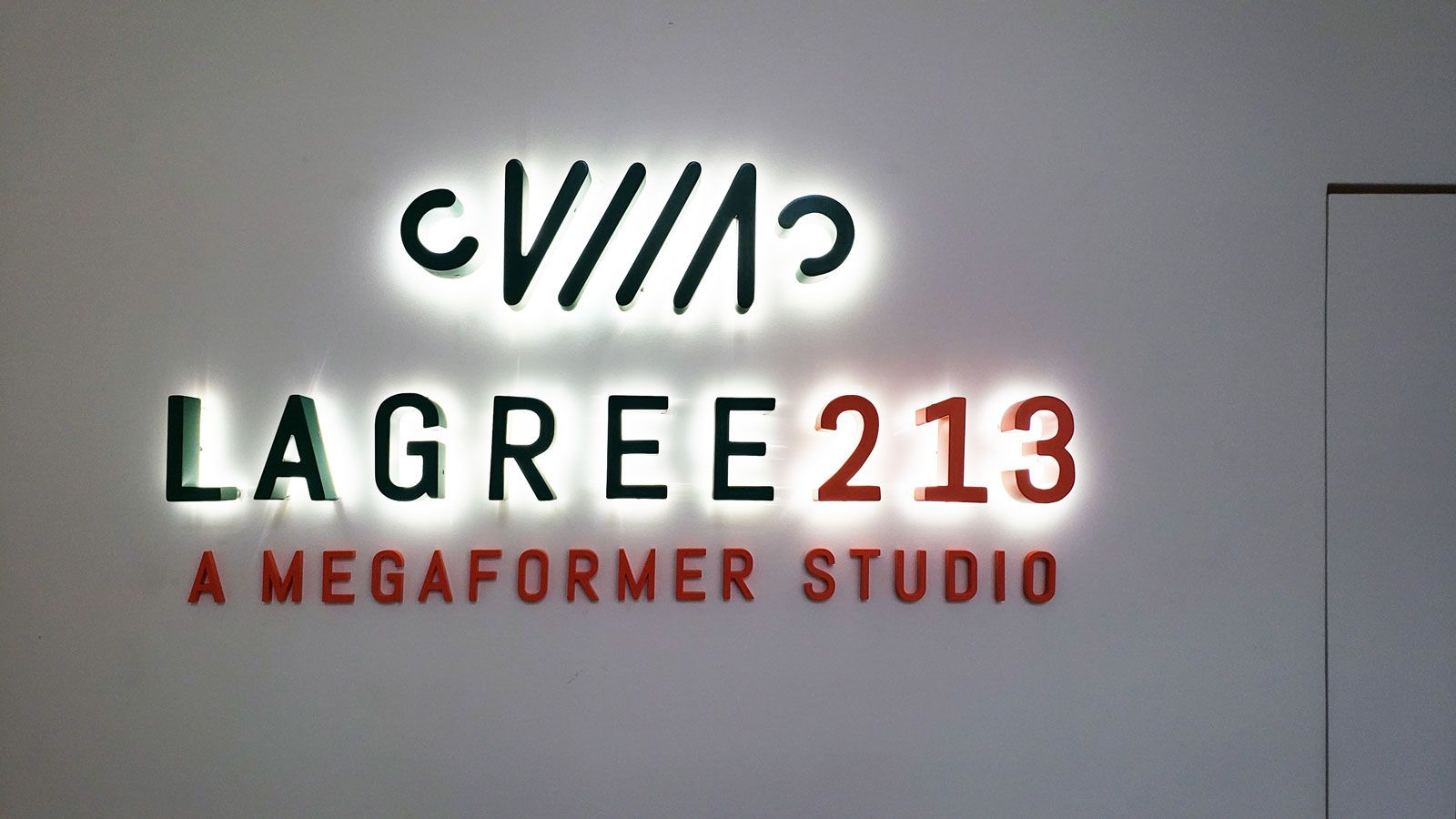 lagree213 backlit sign