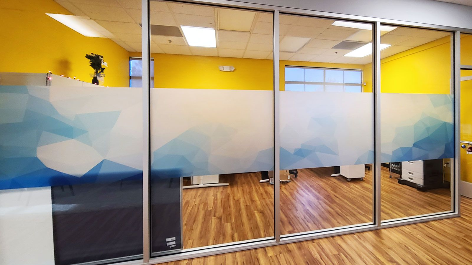 office frosted vinyl decals
