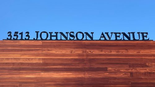Johnson Avenue 3d sign letters and numbers made of acrylic for displaying business address