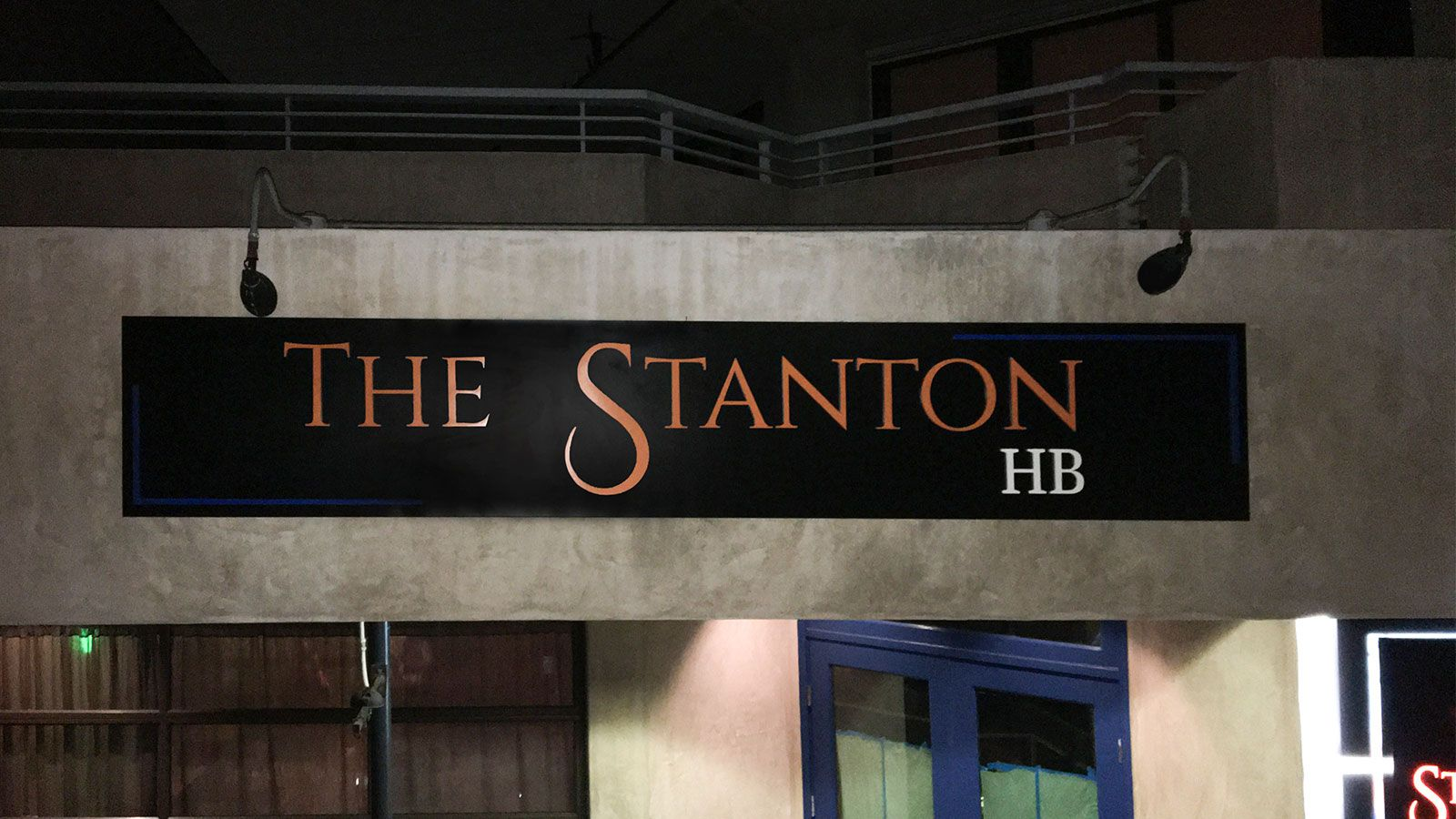 the station lightbox sign
