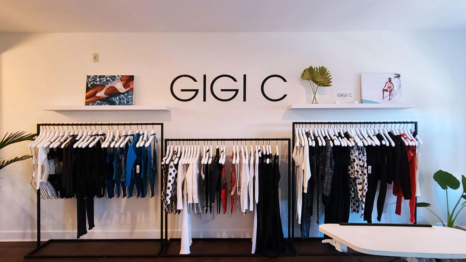 GIGI C Store Vinyl Lettering