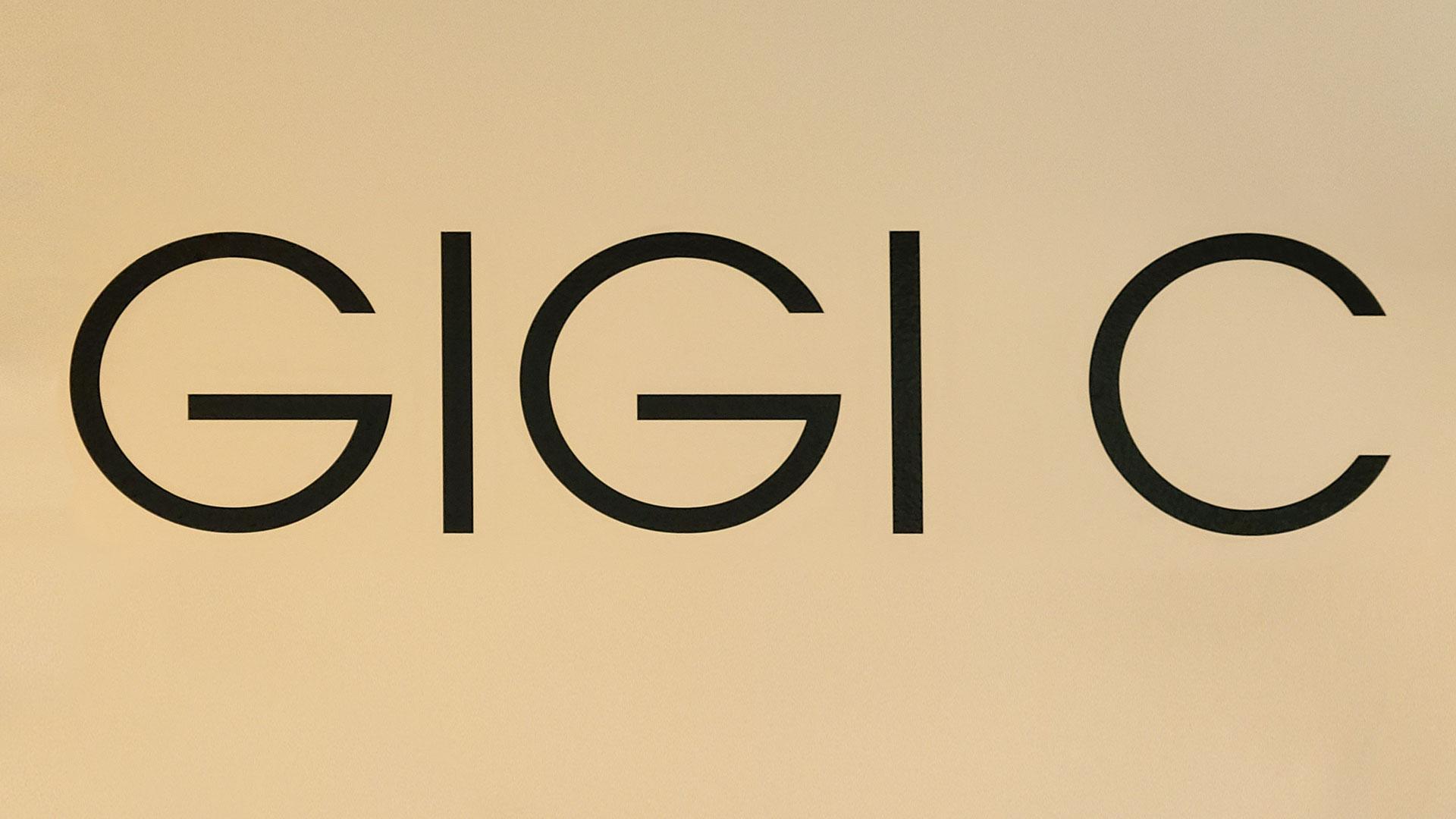 Gigi C indoor vinyl lettering