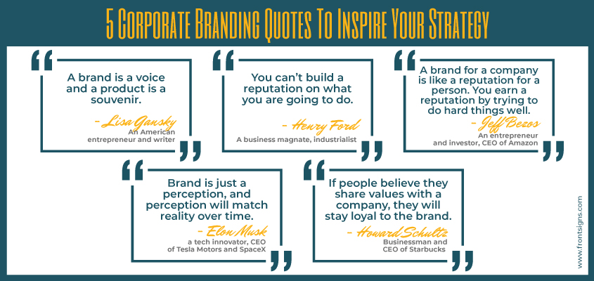 Image showing inspiring branding quotes by famous entrepreneurs