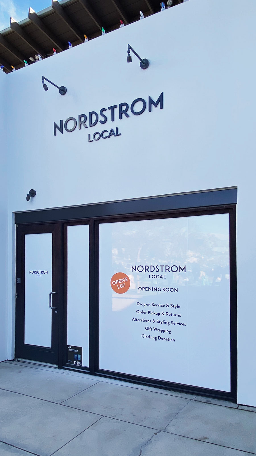 Nordstrom Local PVC 3D letters and window decals