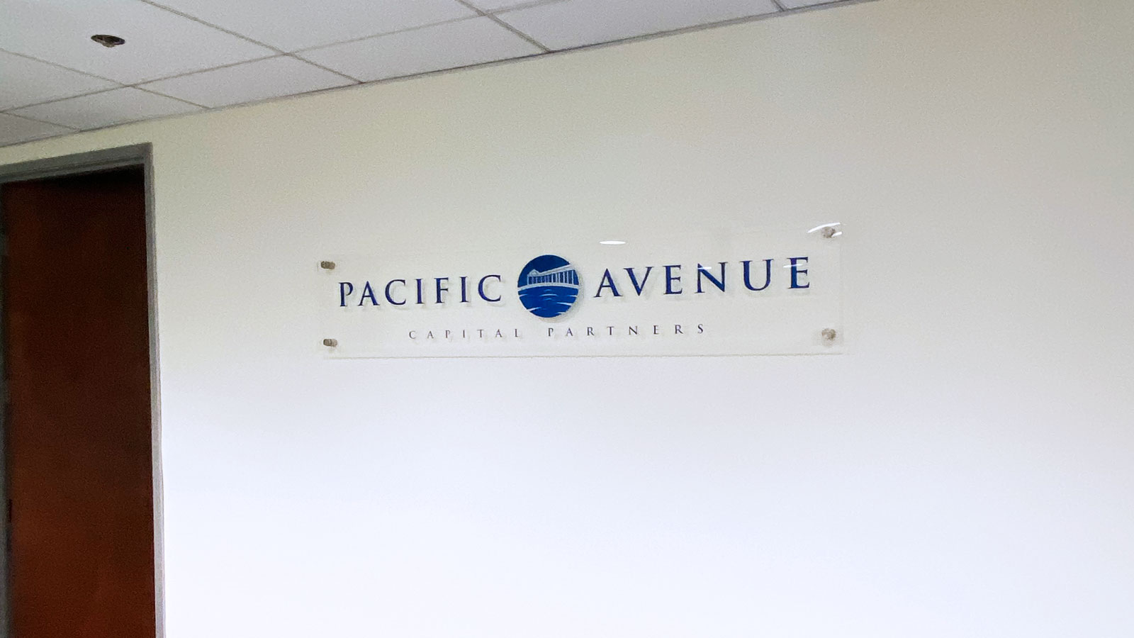 Pacific avenue acrylic signs