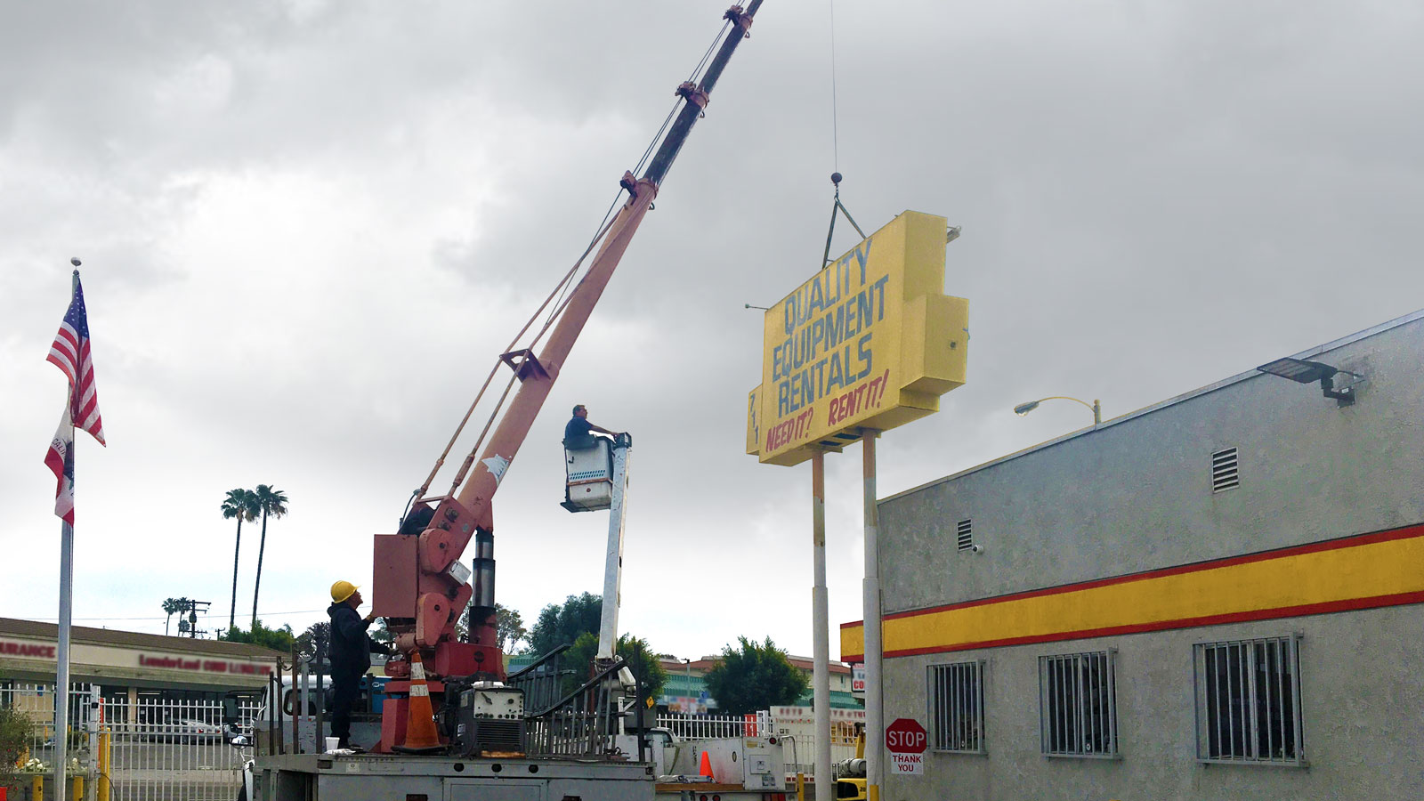 The process of replacement of a pylon signage