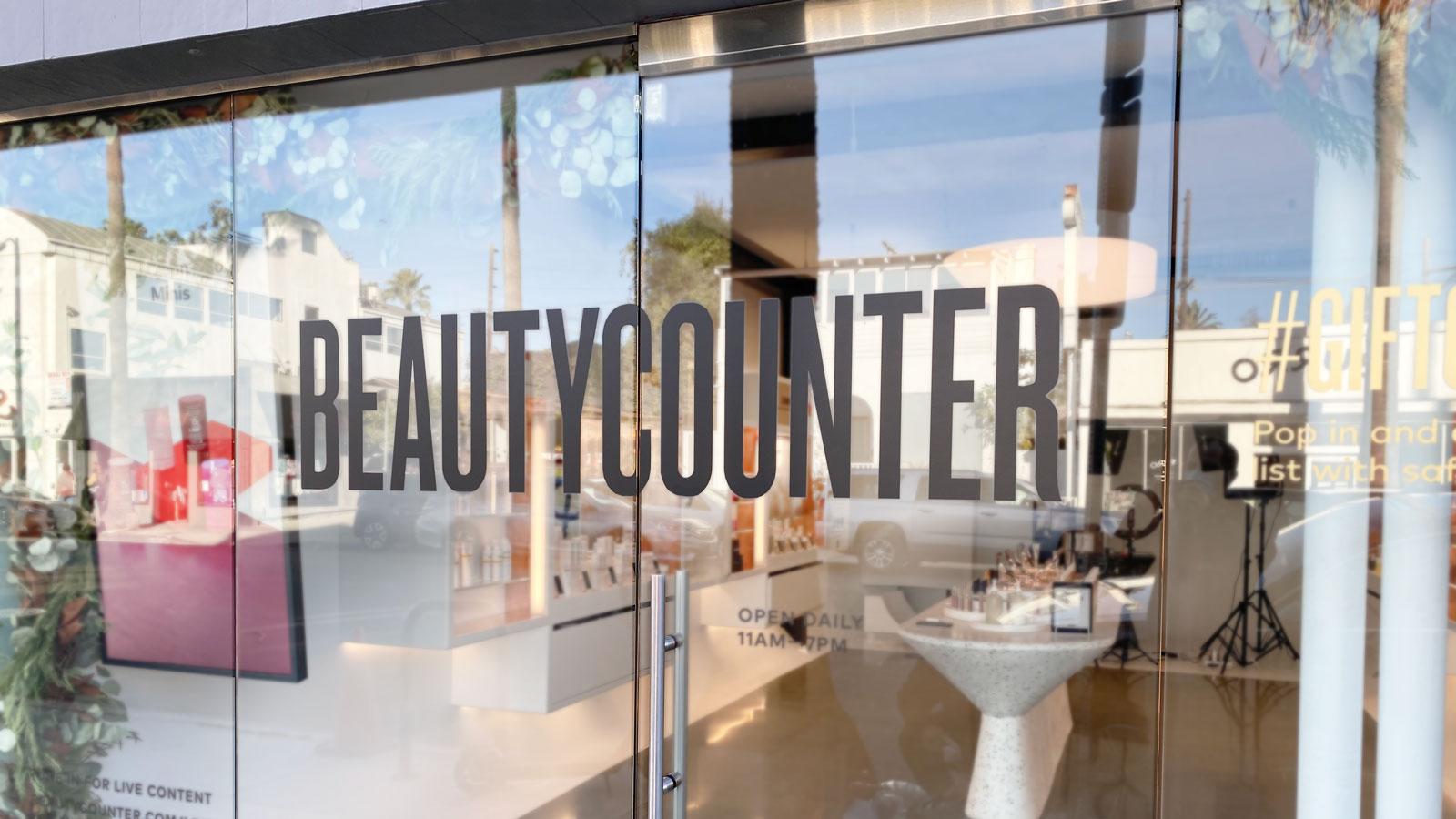 beautycounter vinyl lettering