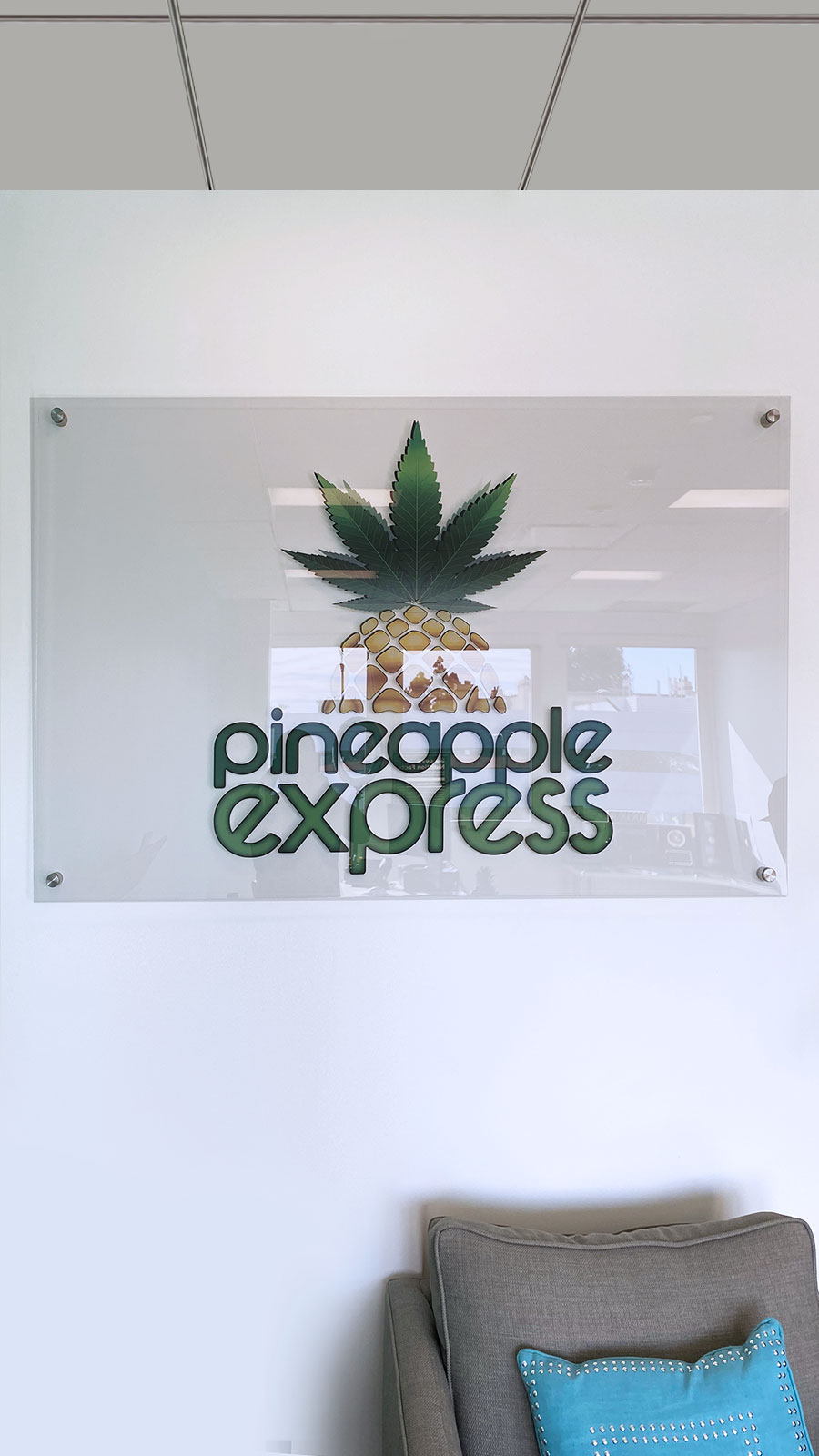 pineapple express office sign