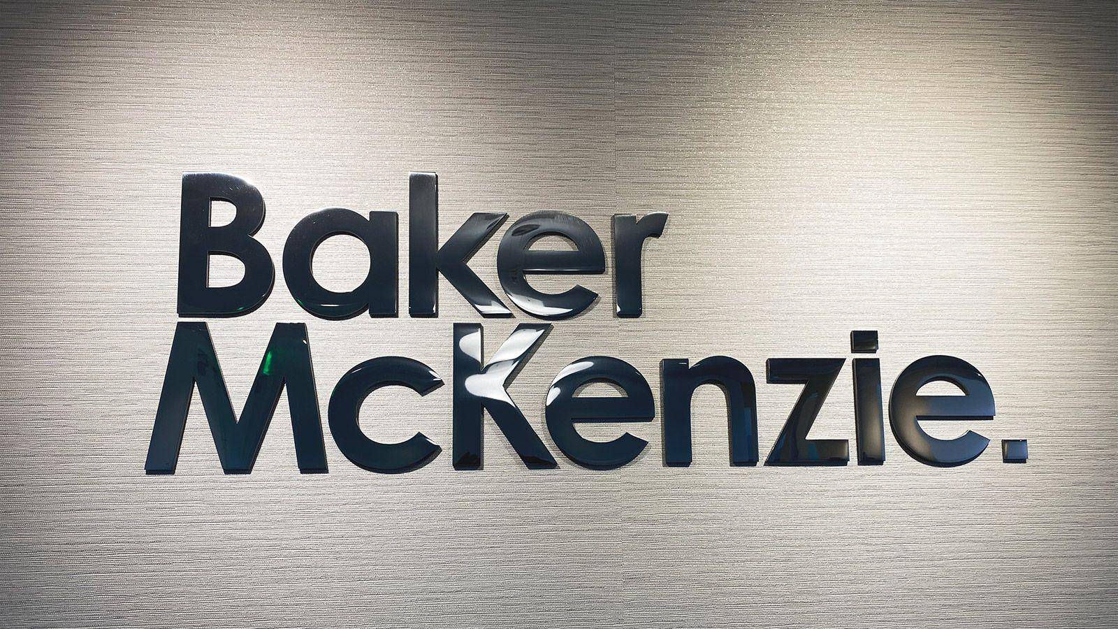 Baker McKenzie acrylic 3D letters