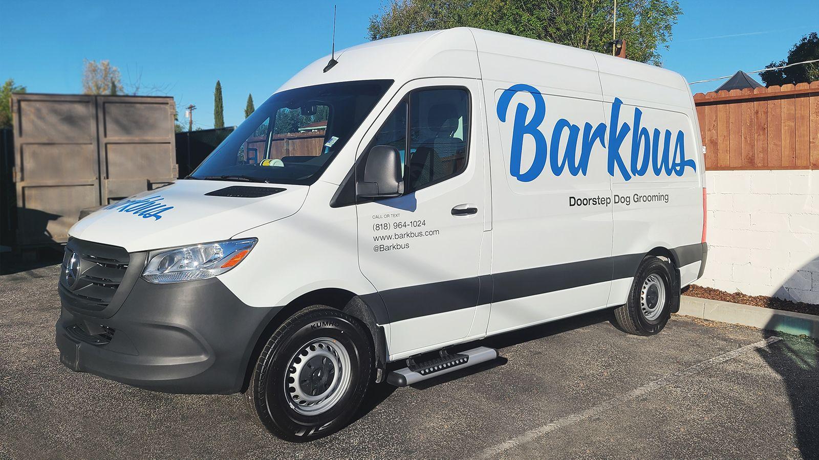 Barkbus company truck wrap
