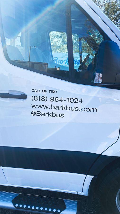 Barkbus vehicle door decals