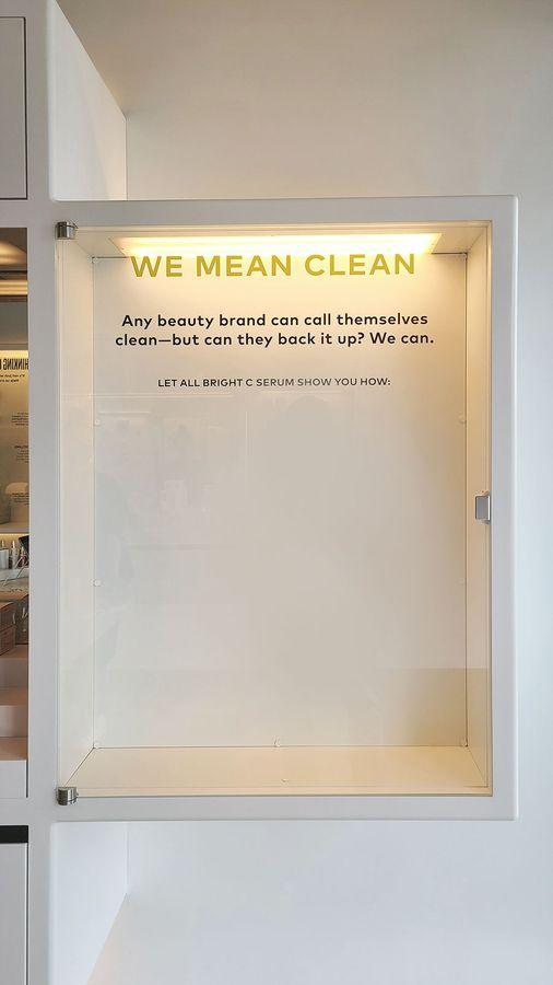 Beautycounter display vinyl lettering