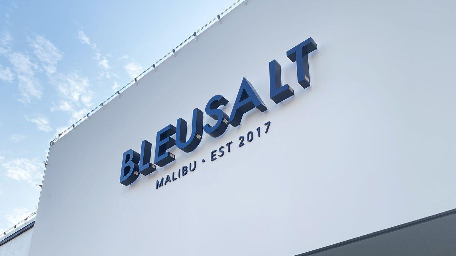 Bleusalt channel letters