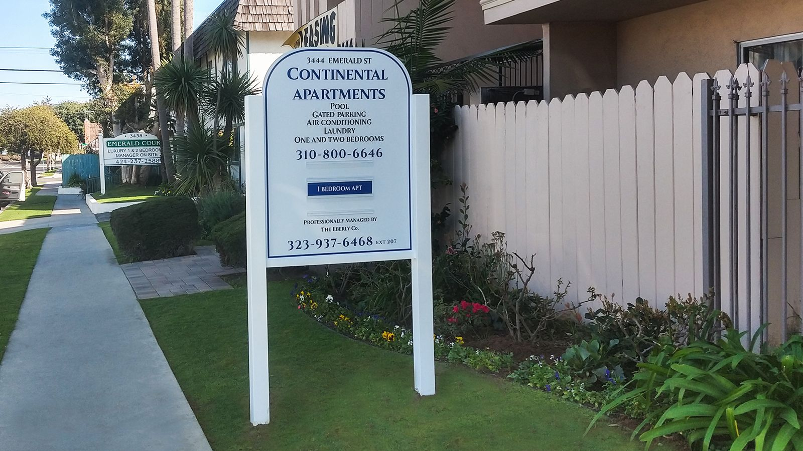 Continental Apartments real estate sign