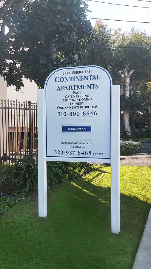 Continental Apartments realtor sign