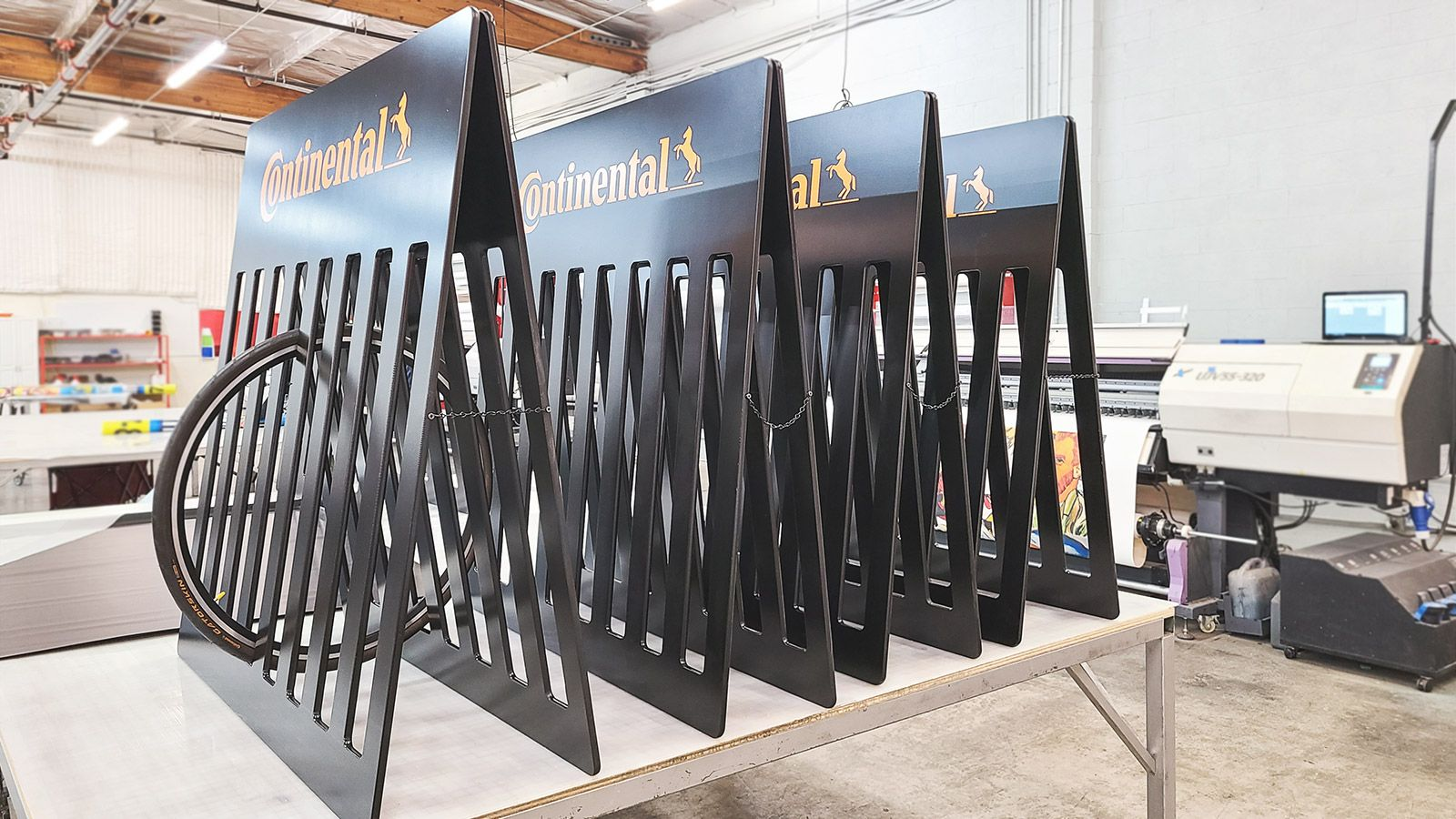 Continental MDF tire display