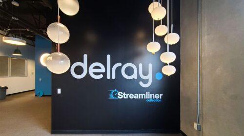 Delray office vinyl lettering
