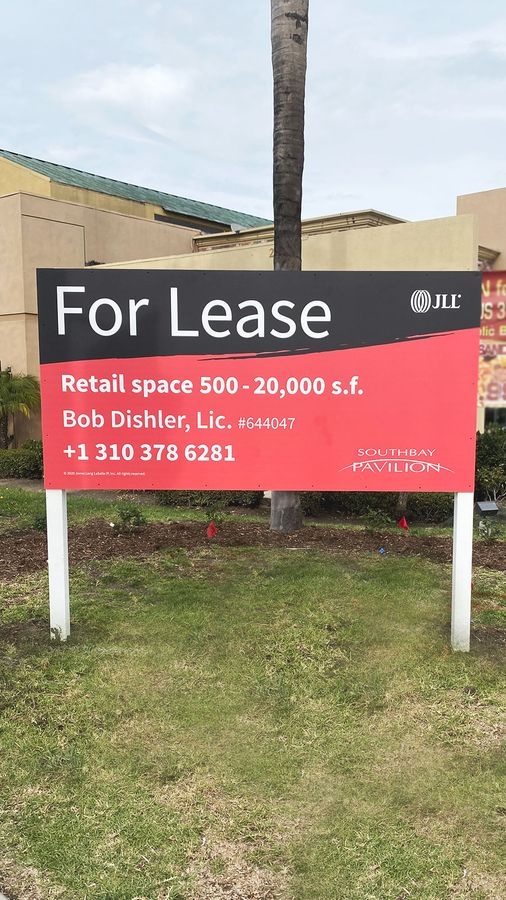 For lease plywood sign